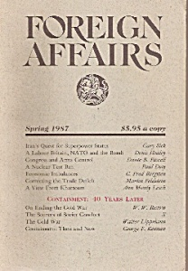 Foreign Affairs Book/magazine - Spring 1987