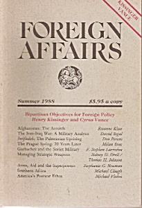 Foreign Affairs book magazine/ Summer 1988 (Image1)