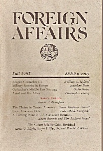 Foreign Affairs book/magazine -=   Fall 1987 (Image1)
