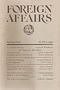 Foreign Affairs Book/magazine - Spring 1986