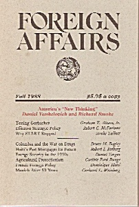Foreign Affairs Booki/magazine - Fall 1988