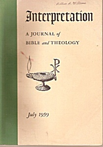 Interpretation - Journal of bible and theology - July 1 (Image1)