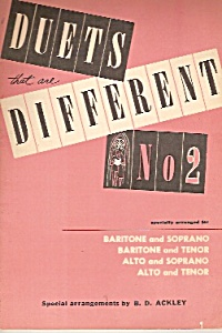 Duets That Aredifferent -no. 2 -copyright 1957