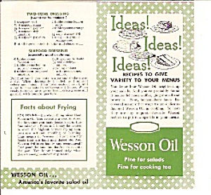 Wesson Oil Recipes Brochure -