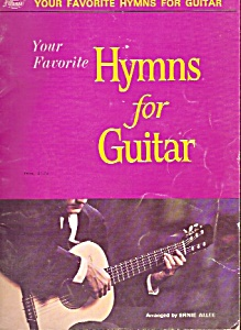Hymns For Guitar Booklet By Ernie Allee - 1964
