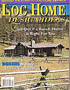 Log Home design ideas magazine -  September 1998 (Image1)