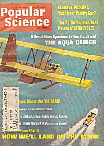 Popular Science Magazine - August 1967