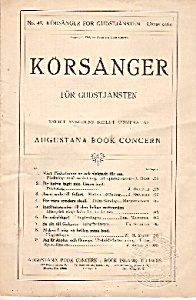 Korsanger For Gudstjansten No. 47