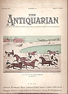 The Antiquarian -  August 1927 (Image1)