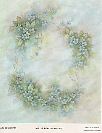 Mary Dougherty - Forget-me-nots - Vintage - 1976
