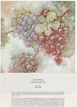 Grapes - Mary Dougherty - No 24 - Oop - 1981 - Vintage