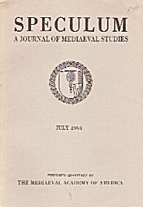 Speculum(Mediaeval studies) booki/magazine  July 1964 (Image1)