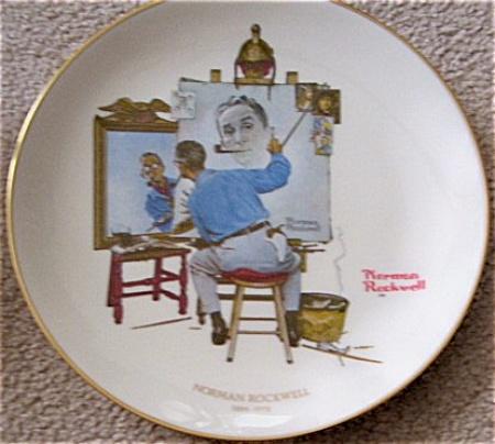 Norman Rockwell MEMORAIL Portrait Pl Gorham (Image1)