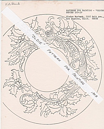 Vintage - Oldies - Pattern For Painting - 1890's? -