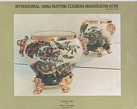 VINTAGE~PORCELAIN ARTIST~JANUARY~1974 (Image1)