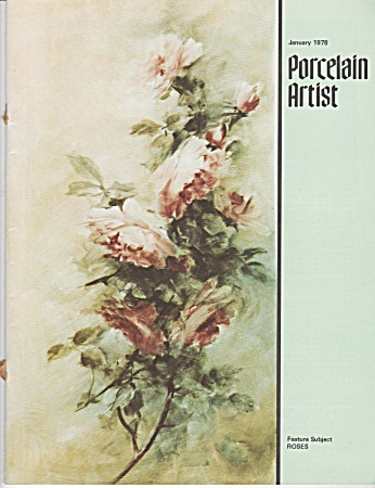 VINTAGE~PORCELAIN ARTIST~JANUARY~1978 (Image1)