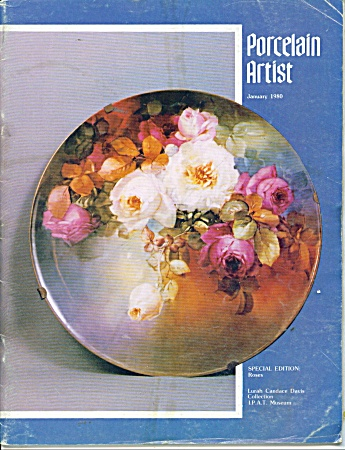 Vintage Porcelain Artist Roses - January 1980