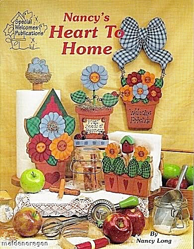Vintage - Nancy Long - Heart To Home - Tole