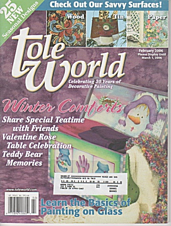 TOLE WORLD~FEB 2006~WINTER COMFORTS~CRAFTS (Image1)