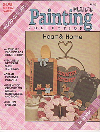 Vintage - Wood Cut-outs - Heart & Home - 1987