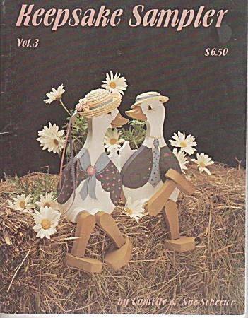 VINTAGE ~1987~KEEPSAKE SAMPLER~PAINTING~OOP (Image1)