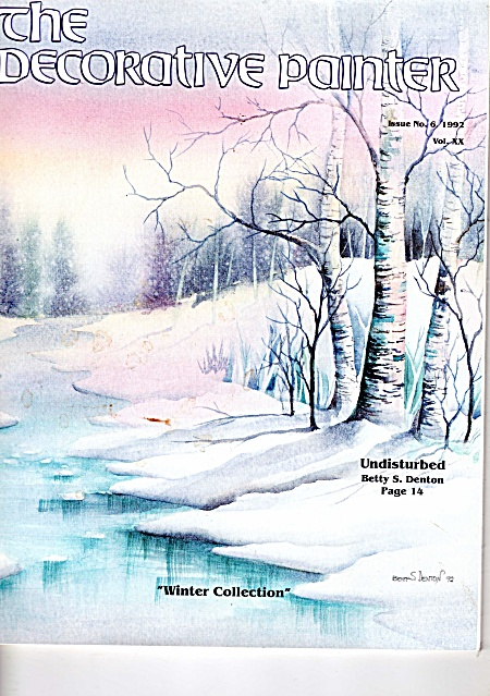 VINTAGE~DECORATIVE PAINTER~WINTER COLLECTION (Image1)