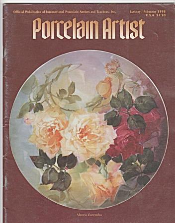 FABULOUS ANNUALROSES~PORCELAIN ARTIST~1998~ (Image1)