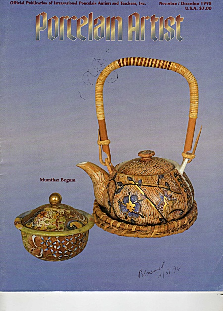 Porcelain Artist - Nov/dec/1998 - China Painting