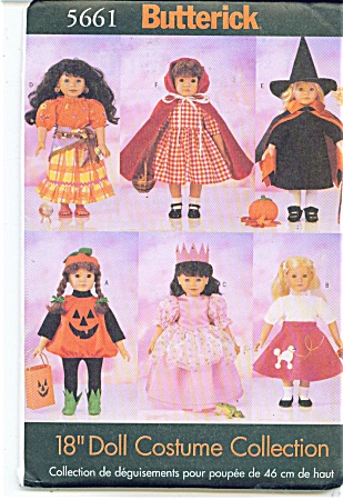 Butterick 18 Inch Doll Pattern 5661