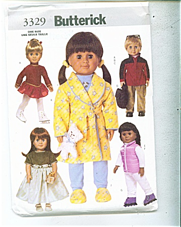 Doll Pattern Butterick 3329 18 Inch Doll
