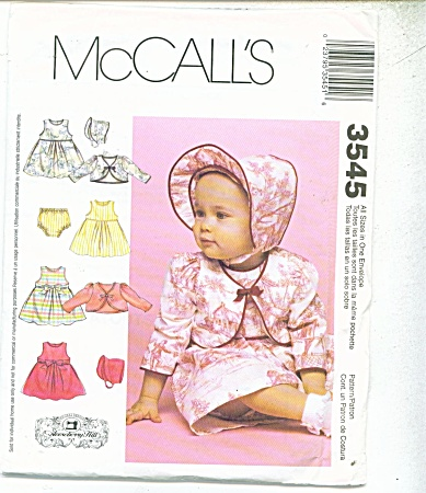SIMPLICITY BABY PATTERNS  3545 (Image1)