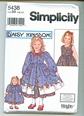 DAISY KINGDOM GIRLS AND DOLL DRESS  PATTERN (Image1)