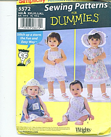 SIMPLICITY BABY PATTERNS  5572 (Image1)