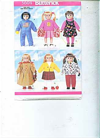 Doll Pattern Butterick 5604 18 Inch Doll