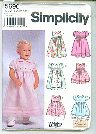 SIMPLICITY BABY PATTERNS  5690 (Image1)