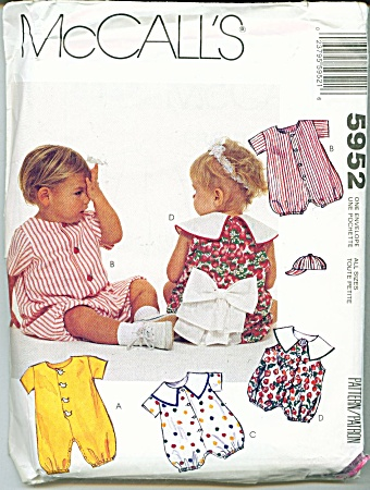 Simplicity Baby Patterns 5952