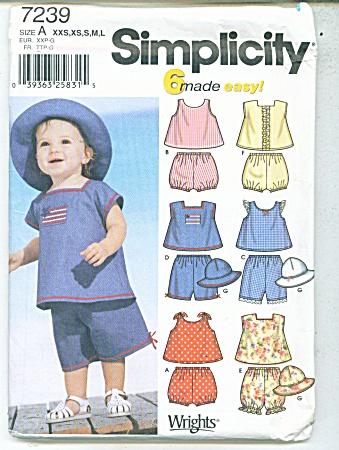 Simplicity Baby Patterns 7239