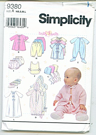 Simplicity Baby Patterns 9380