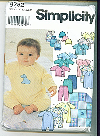 SIMPLICITY BABY PATTERNS  9782 (Image1)