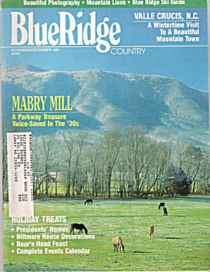 Blue Ridge Country - November, December 1991