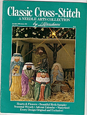 Classic Cross-stitch - Dec. 1988 & Jan. 1989