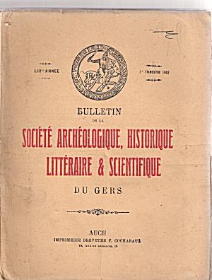 Societe Archeologique, Historique - 1st trimestre 1952 (Image1)