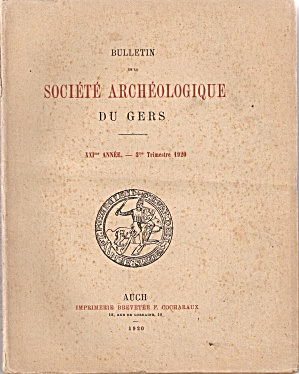 Societe Archeologique Du Gers = 4th trimestre 1920 (Image1)