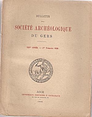 Societe Archeologique du Gers - 3rd trimestre 1920 (Image1)