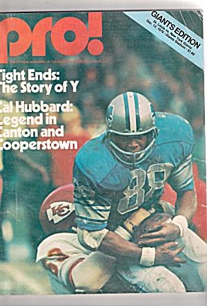 PRO magazine -  December 12, 1976 (Image1)