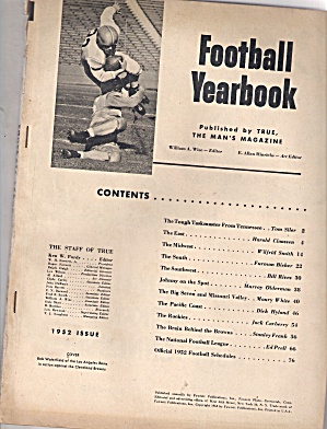 Football Yearbook - 1952