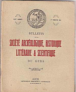 Societe Archeologique, Historique -2nd trimestre 1953 (Image1)