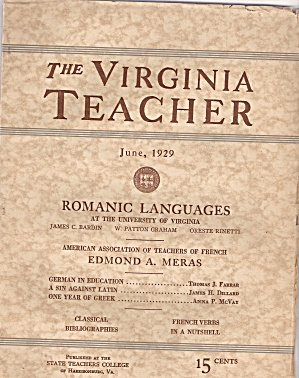 The Virginia Teacher - June 1929