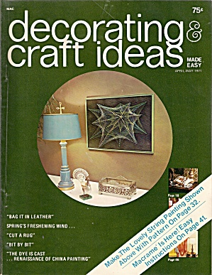 Decorating & craft ideas made easy -  April-May `1971 (Image1)