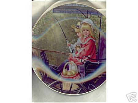 Sandra Kuck Collectible Plate The Surrey Ride 1984 Mib